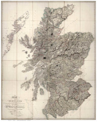 Scotland 1807 Arrowsmith - Old Map Reprint