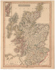 Scotland 1808 Smith - Old Map Reprint