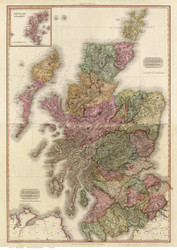 Scotland 1811 Pinkerton - Old Map Reprint
