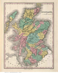 Scotland 1827 Finley - Old Map Reprint