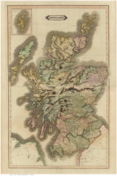 Scotland 1831 Lizars - Old Map Reprint