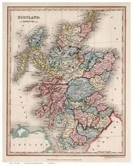 Scotland 1832 Higgins - Old Map Reprint