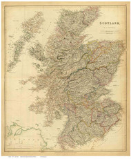 Scotland 1834 Arrowsmith - Old Map Reprint