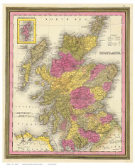 Scotland 1846 Mitchell - Old Map Reprint