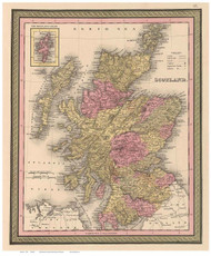 Scotland 1849 Mitchell - Old Map Reprint