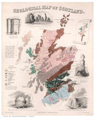 Scotland 1850 Emslie - Old Map Reprint