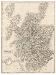 Scotland 1855 Hall - Old Map Reprint