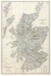 Scotland 1861 Johnston - Old Map Reprint