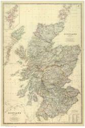 Scotland 1879 Johnston - Old Map Reprint