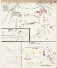 Burlington, VT Fire Insurance 1885 Sheet 2 - Old Town Map Reprint - Chittenden Co.