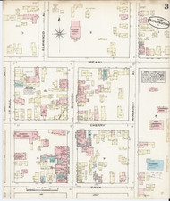 Burlington, VT Fire Insurance 1885 Sheet 3 - Old Town Map Reprint - Chittenden Co.