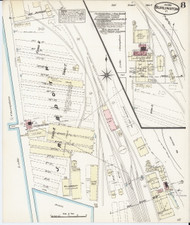 Burlington, VT Fire Insurance 1885 Sheet 8 - Old Town Map Reprint - Chittenden Co.