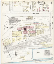Burlington, VT Fire Insurance 1885 Sheet 9 - Old Town Map Reprint - Chittenden Co.