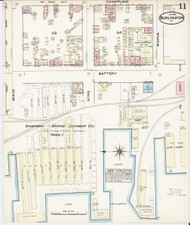 Burlington, VT Fire Insurance 1885 Sheet 11 - Old Town Map Reprint - Chittenden Co.