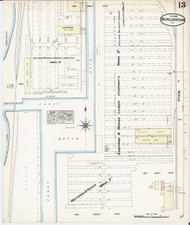 Burlington, VT Fire Insurance 1885 Sheet 13 - Old Town Map Reprint - Chittenden Co.