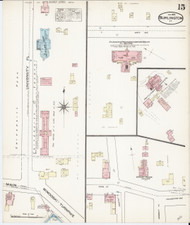 Burlington, VT Fire Insurance 1885 Sheet 15 - Old Town Map Reprint - Chittenden Co.