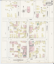 Burlington, VT Fire Insurance 1889 Sheet 3 - Old Town Map Reprint - Chittenden Co.