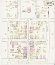 Burlington, VT Fire Insurance 1889 Sheet 3 - Old Town Map Reprint - Chittenden Co.