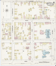 Burlington, VT Fire Insurance 1889 Sheet 6 - Old Town Map Reprint - Chittenden Co.