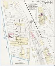 Burlington, VT Fire Insurance 1889 Sheet 8 - Old Town Map Reprint - Chittenden Co.