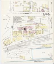 Burlington, VT Fire Insurance 1889 Sheet 9 - Old Town Map Reprint - Chittenden Co.