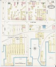 Burlington, VT Fire Insurance 1889 Sheet 11 - Old Town Map Reprint - Chittenden Co.