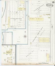Burlington, VT Fire Insurance 1889 Sheet 13 - Old Town Map Reprint - Chittenden Co.