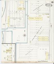 Burlington, VT Fire Insurance 1889 Sheet 13 - Old Town Map Reprint - Chittenden Co.