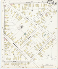 Burlington, VT Fire Insurance 1889 Sheet 16 - Old Town Map Reprint - Chittenden Co.
