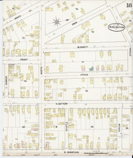 Burlington, VT Fire Insurance 1889 Sheet 18 - Old Town Map Reprint - Chittenden Co.