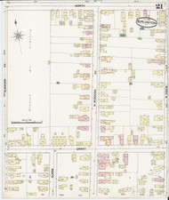Burlington, VT Fire Insurance 1889 Sheet 21 - Old Town Map Reprint - Chittenden Co.