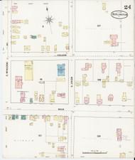Burlington, VT Fire Insurance 1889 Sheet 24 - Old Town Map Reprint - Chittenden Co.