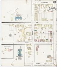 Burlington, VT Fire Insurance 1889 Sheet 25 - Old Town Map Reprint - Chittenden Co.