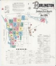 Burlington, VT Fire Insurance 1894 Sheet 0 (Index) - Old Town Map Reprint - Chittenden Co.