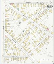 Burlington, VT Fire Insurance 1894 Sheet 4 - Old Town Map Reprint - Chittenden Co.