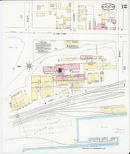 Burlington, VT Fire Insurance 1894 Sheet 12 - Old Town Map Reprint - Chittenden Co.