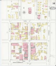 Burlington, VT Fire Insurance 1894 Sheet 14 - Old Town Map Reprint - Chittenden Co.