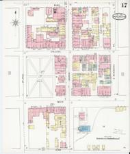 Burlington, VT Fire Insurance 1894 Sheet 17 - Old Town Map Reprint - Chittenden Co.