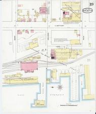 Burlington, VT Fire Insurance 1894 Sheet 19 - Old Town Map Reprint - Chittenden Co.