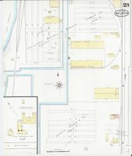 Burlington, VT Fire Insurance 1894 Sheet 23 - Old Town Map Reprint - Chittenden Co.
