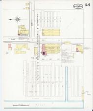 Burlington, VT Fire Insurance 1894 Sheet 24 - Old Town Map Reprint - Chittenden Co.