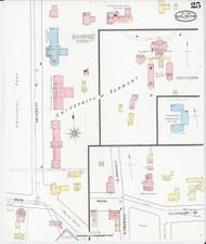 Burlington, VT Fire Insurance 1894 Sheet 25 - Old Town Map Reprint - Chittenden Co.