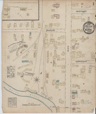 Barre, VT Fire Insurance 1884 Sheet 1 - Old Town Map Reprint