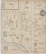 Barre, VT Fire Insurance 1884 Sheet 1 - Old Town Map Reprint