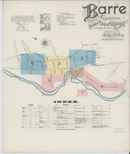 Barre, VT Fire Insurance 1889 Sheet 1 - Old Town Map Reprint