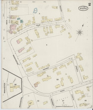 Barre, VT Fire Insurance 1889 Sheet 2 - Old Town Map Reprint
