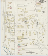 Barre, VT Fire Insurance 1889 Sheet 3 - Old Town Map Reprint