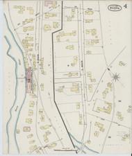 Barre, VT Fire Insurance 1889 Sheet 4 - Old Town Map Reprint