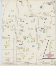Barre, VT Fire Insurance 1889 Sheet 6 - Old Town Map Reprint