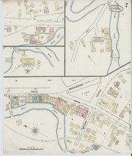 Barre, VT Fire Insurance 1889 Sheet 7 - Old Town Map Reprint